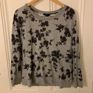 Gap grey sweatshirt with floral design